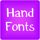 Hand fonts for FlipFont free icon