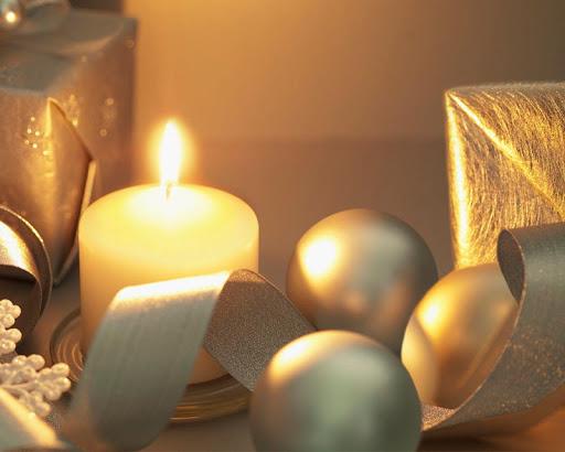 流光溢彩的聖誕壁紙