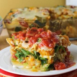 Winter Vegetable Lasagna with Marinara Sauce