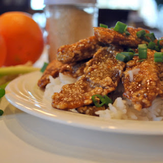 Vegan Sesame Orange Seitan.