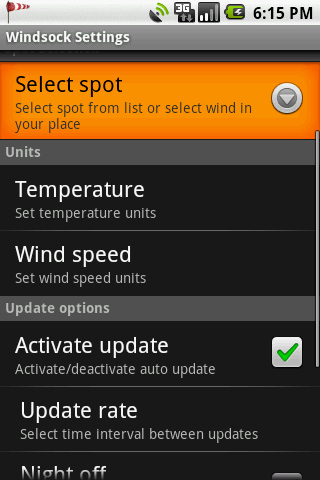 Windsock Forecast - screenshot