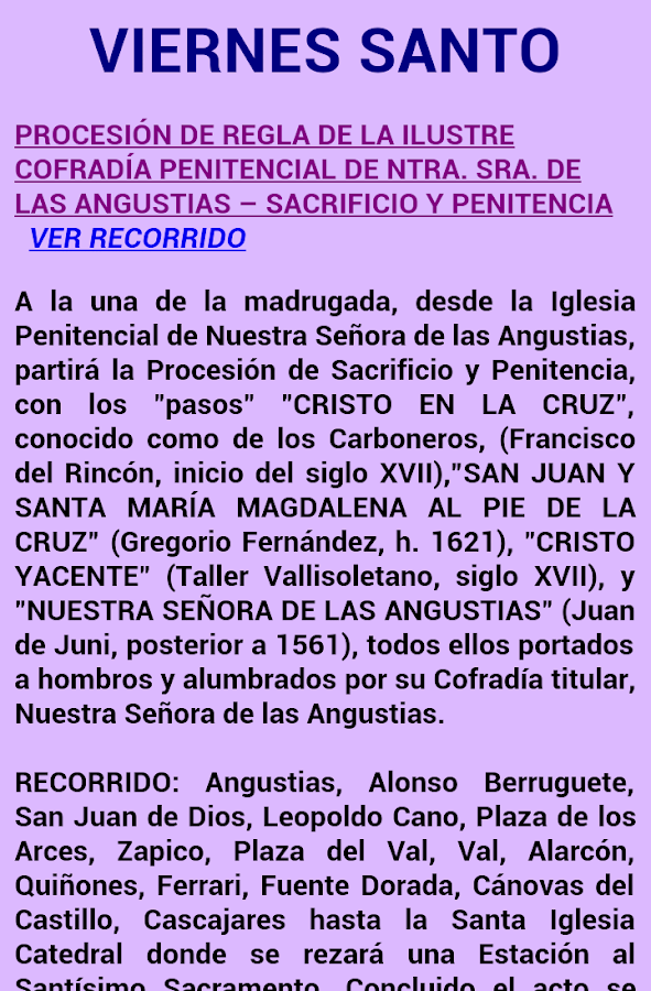 Semana Santa de Valladolid- screenshot