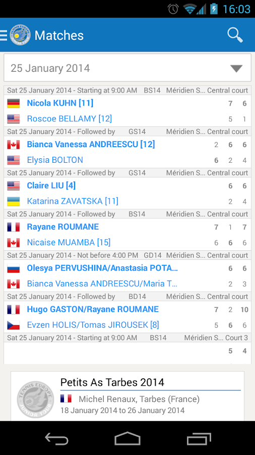 Tennis Europe- screenshot