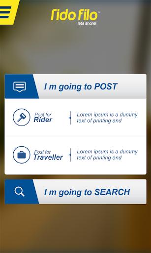 RidoFilo: Ridesharing Easified