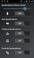 Screenshot of Speakerphone Control