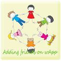 Adding Friends on wApp logo