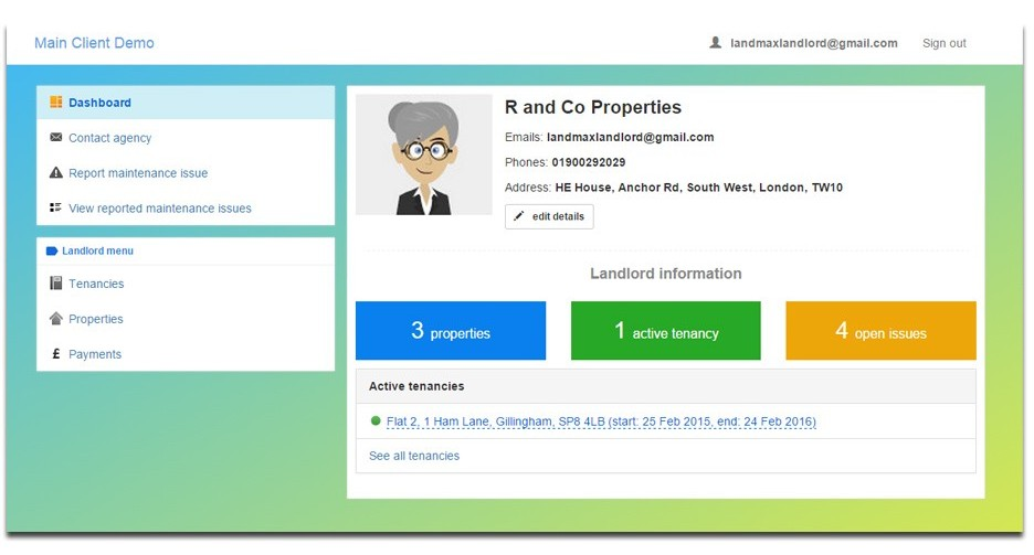 Landlord Online Account
