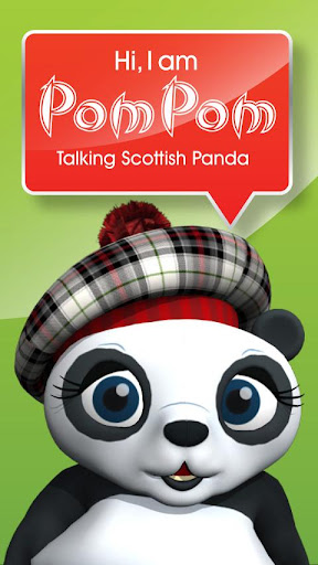 Talking Scottish Panda Pom Pom