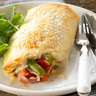 Cheesy Vegetable & Bacon Filo Parcels Recipe