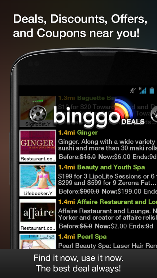 binggo deals offers & coupons - screenshot