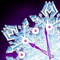 Christmas Snow Clock