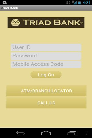 Triad Bank – Mobile Banking - screenshot