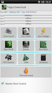 Tegra Overclock - screenshot thumbnail