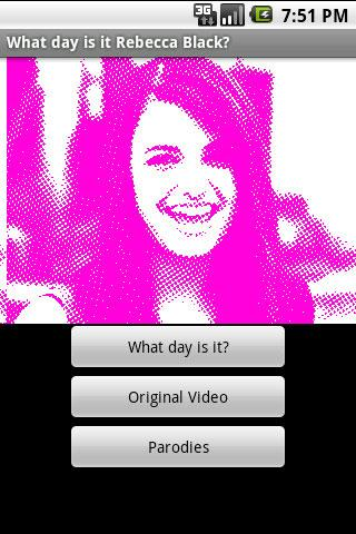 What day is it Rebecca Black? - screenshot