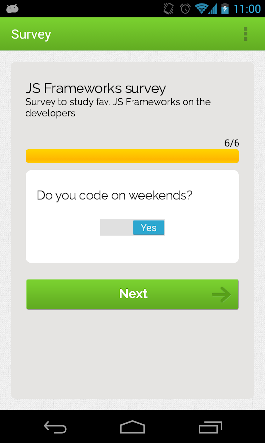 GetSurveyApp- screenshot