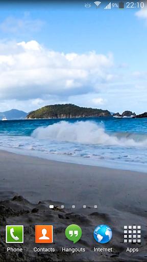 【免費個人化App】Ocean Waves Live Wallpaper 48-APP點子
