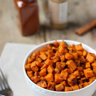 Spiced Oven Roasted Sweet Potatoes.