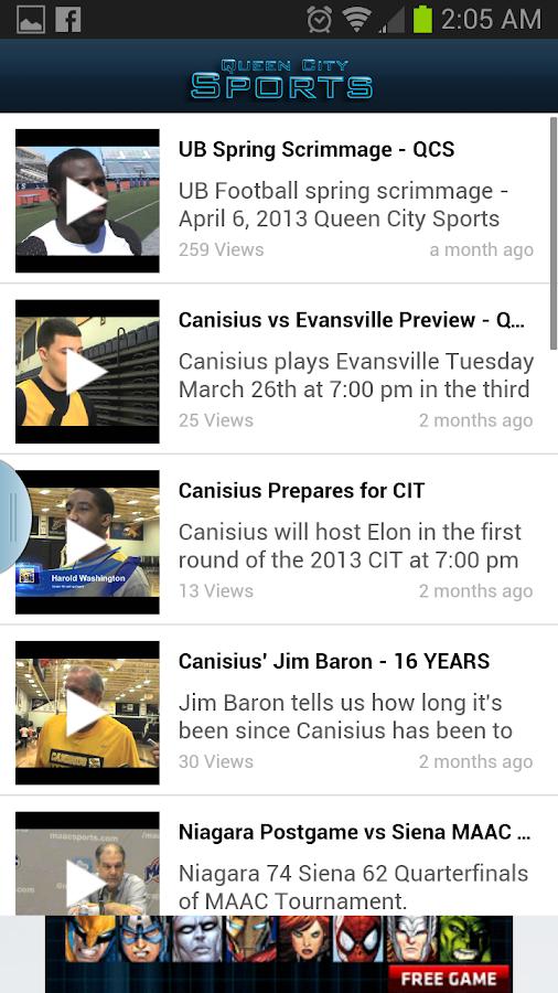 Queen City Sports - screenshot