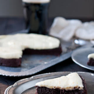 Flourless Chocolate Stout Cake with Orange Mascarpone Frosting