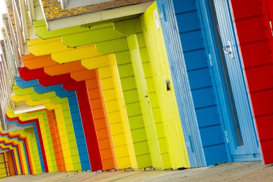 Beach Huts by Richard Howlett - Abstract Patterns (  )