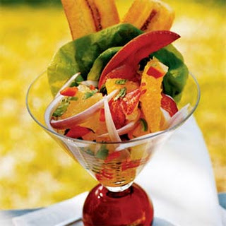 Lobster Martinis with Citrus Salsa.