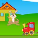 Паровозик помогает Зайцу icon