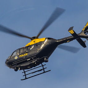Police helicopter by Steve Trigger - Transportation Helicopters
