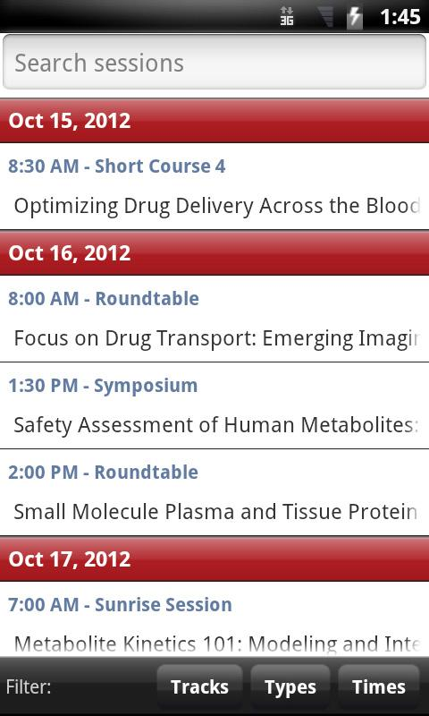 2012 AAPS Annual Meeting - screenshot
