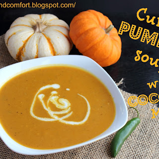 Curried Pumpkin Soup with Coconut Milk.