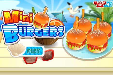 Mini Burgers Cooking Games
