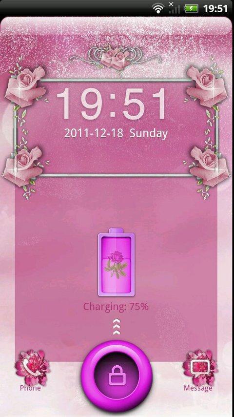 GO Locker Pink Roses Theme- screenshot