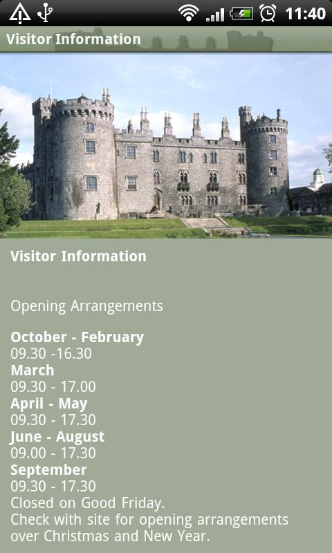Kilkenny Castle Mobile Tour - screenshot