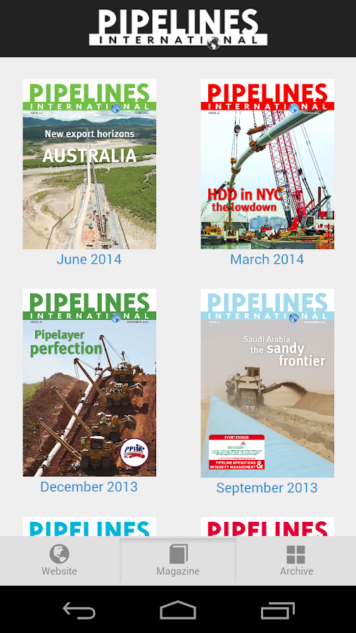 Pipelines International- screenshot