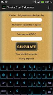 Smoke Cost Calculator