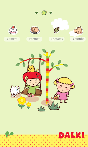 【免費娛樂App】CUKI Theme Dalki best friend-APP點子