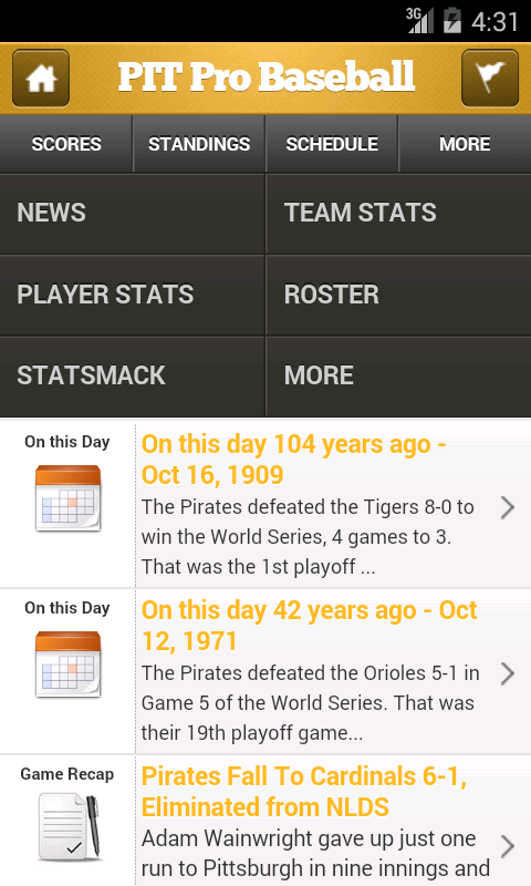 Pittsburgh Pro Baseball - screenshot