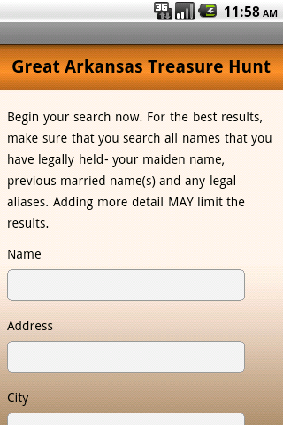 Unclaimed Property Search - screenshot