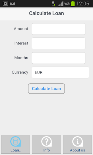 Temenos Loan Calculator