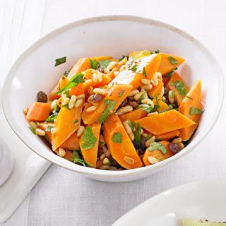 Carrots with Pine Nuts, Raisins & Parsley Recipe