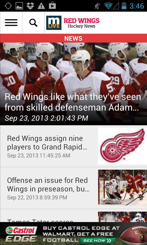 MLive.com: Red Wings News - screenshot