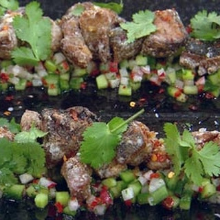 Fragrant Duck With Cucumber And Radish Salad