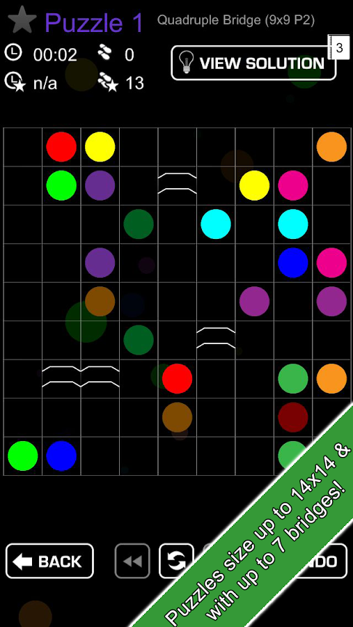 Link Bridges -flow puzzle game - screenshot
