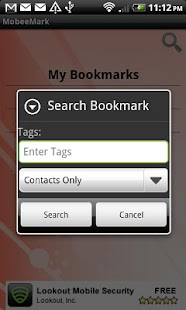 Mobile Bookmarks - screenshot thumbnail