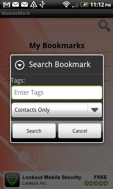 Mobile Bookmarks- screenshot