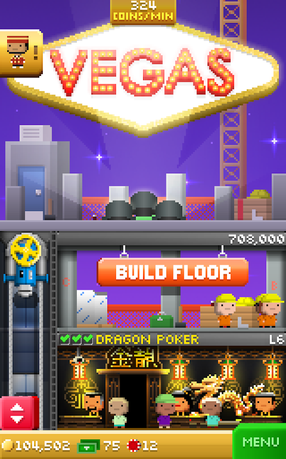 Tiny Tower Vegas- screenshot