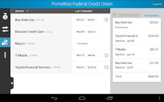 Screenshot of PrimeWay Federal Credit Union
