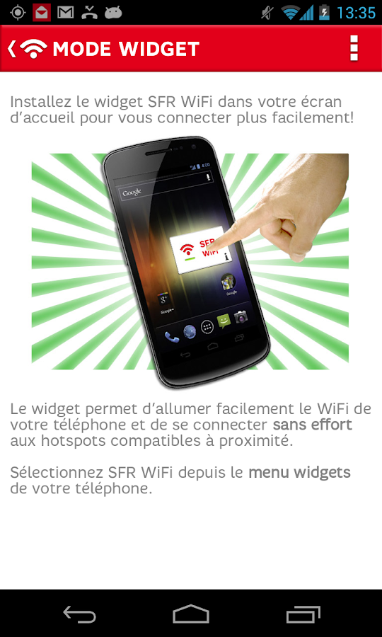 SFR WiFi - screenshot