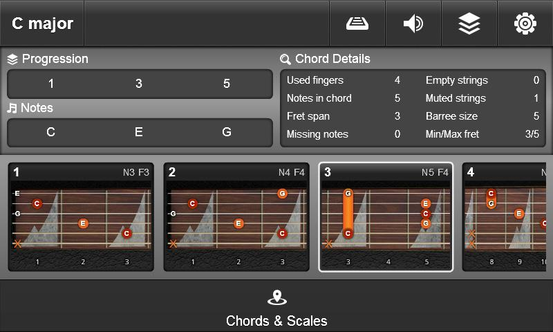 JamBox Chords & Scales- screenshot