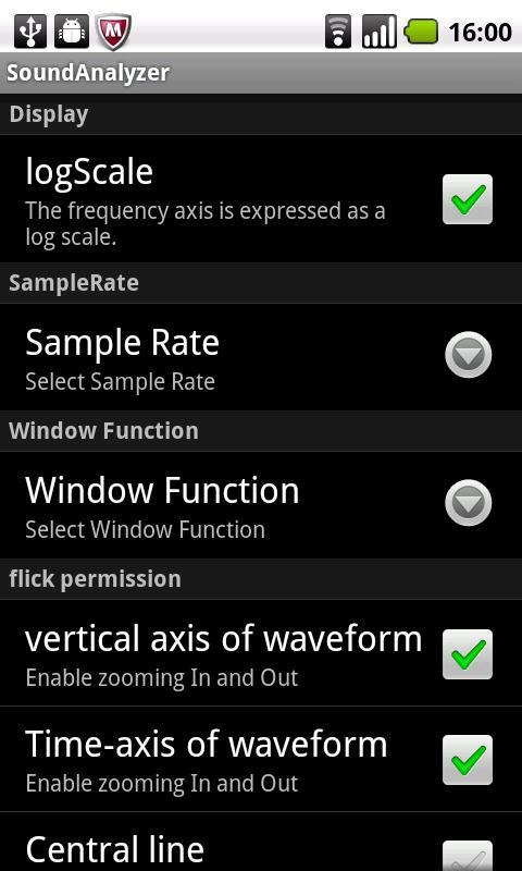 SoundAnalyzer- screenshot
