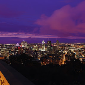 Early Sunrise from Mont-Royal, Montreal. by Faisal Abuhaimed - City,  Street & Park  Skylines
